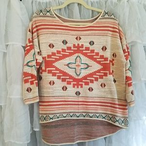Natural Reflections tribal high low top